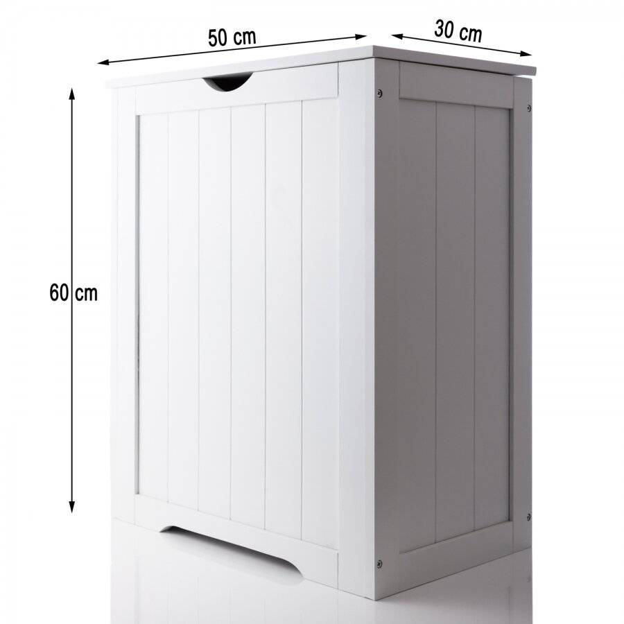 Excellent MDF Shaker Large Laundry Storage Basket - White