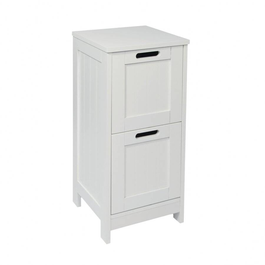 Exquisite Free Standing 2 Drawer Storage Cabinet - White
