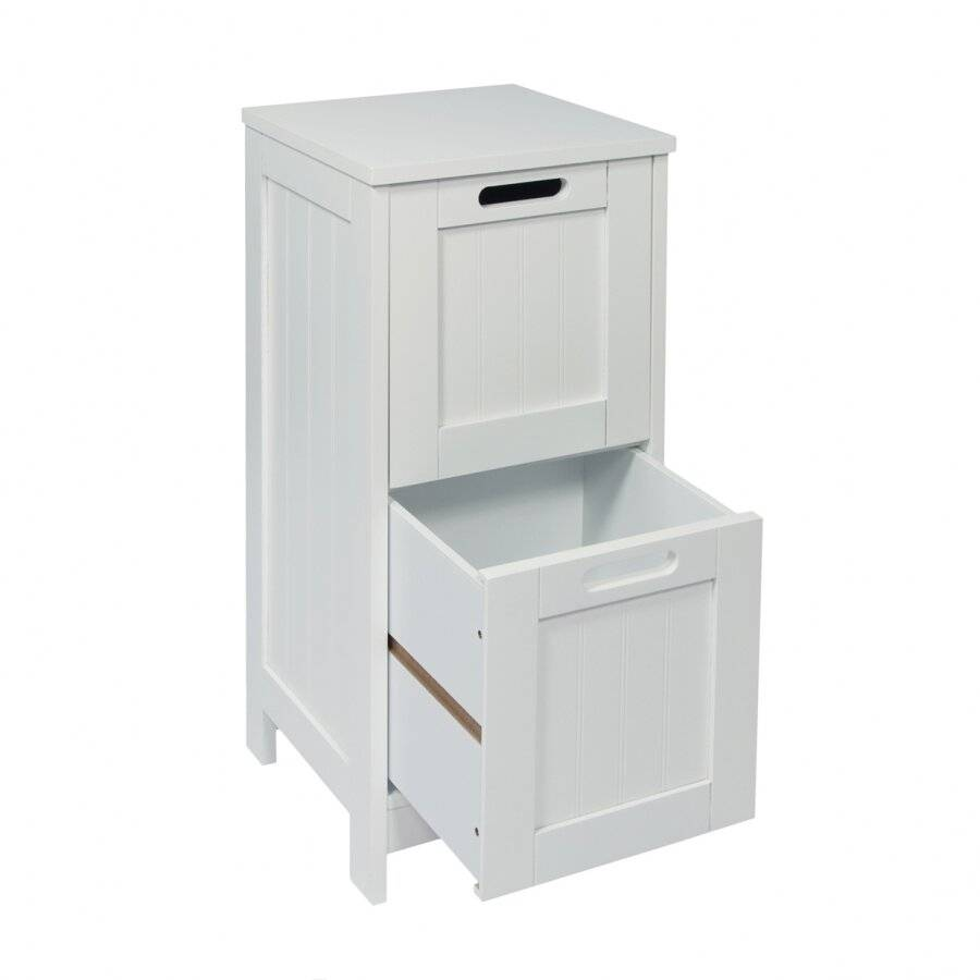 Exquisite FreeStanding 2 Drawer Storage Cabinet - White