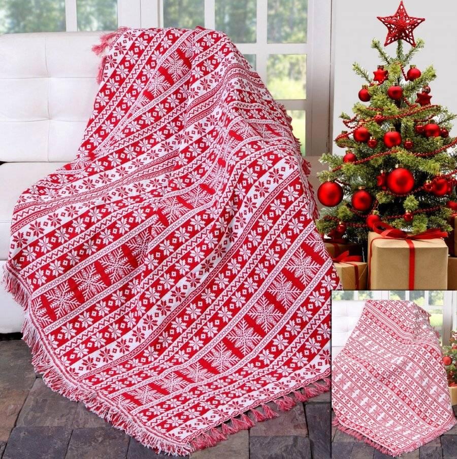 Festive XMas Reversible Snowflakes Sofa Bed Throw-127 x 152cm