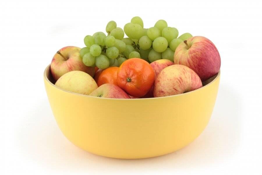 Food-Safe Decorative Premium 25 cm Bamboo Salad Bowl - Custard