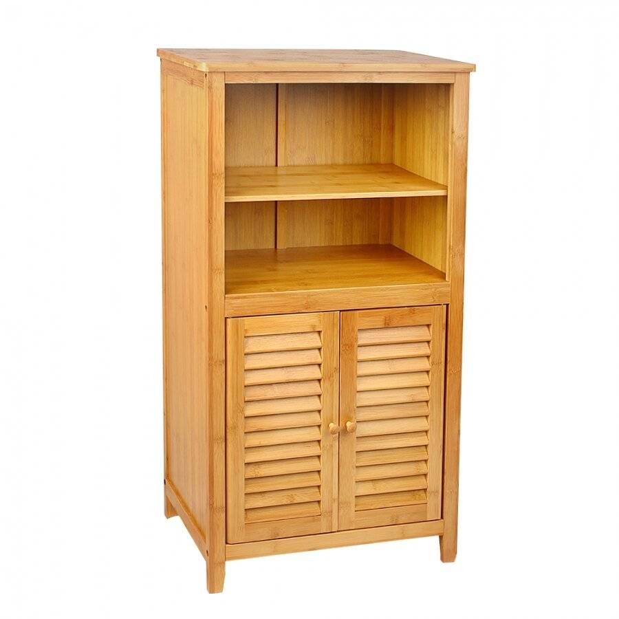 Free Standing 5 tier Bamboo Storage Cabinet For Bathroom