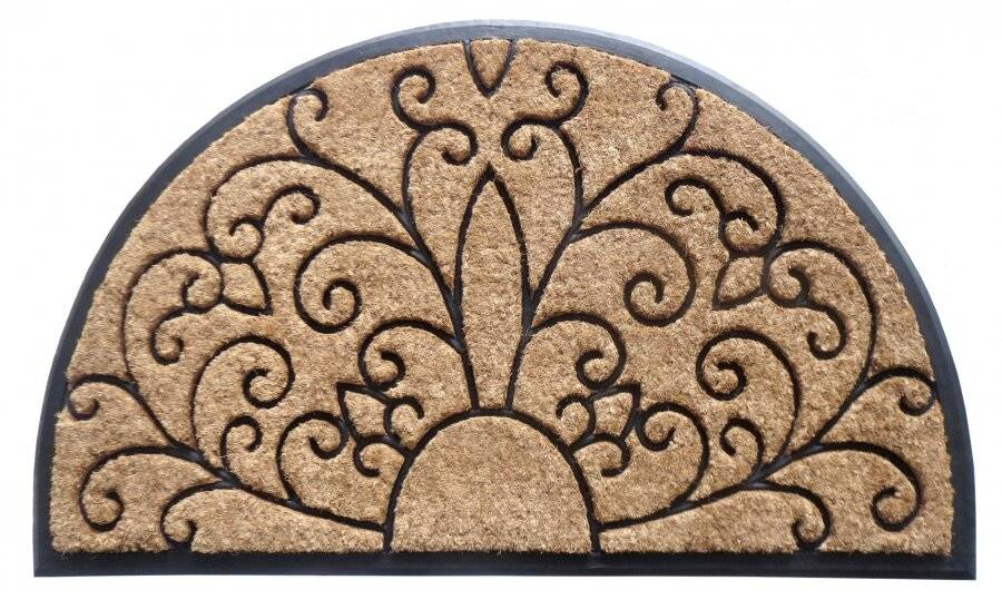 Half Moon Heavy Duty Thick Coir & Rubber Non-Slip Entrance Door Mat