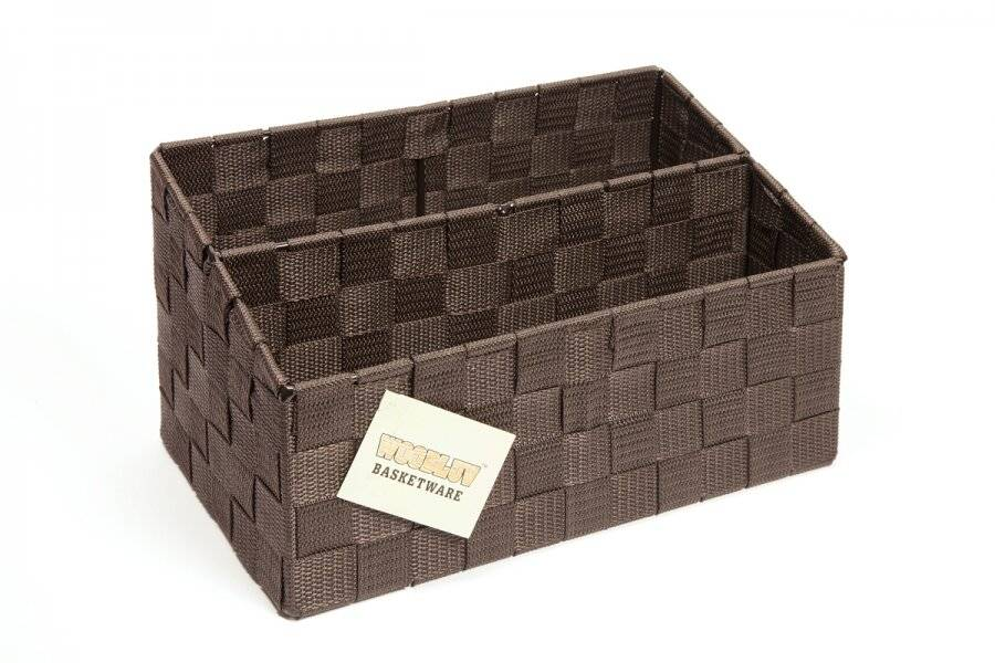 EHC Handwoven Polypropylene Letter and Mail, Organizer, Brown
