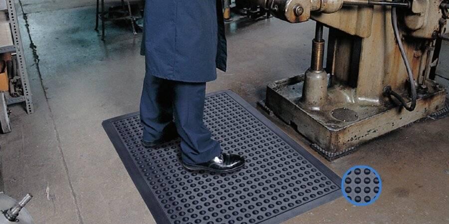 Heavy Duty Anti-Fatigue Non-Slip Rubber Bubble Door Mat