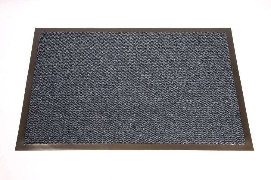 Heavy Duty Non Slip Dirt Barrier Doormat, 120 x 180 cm - Blue/Black