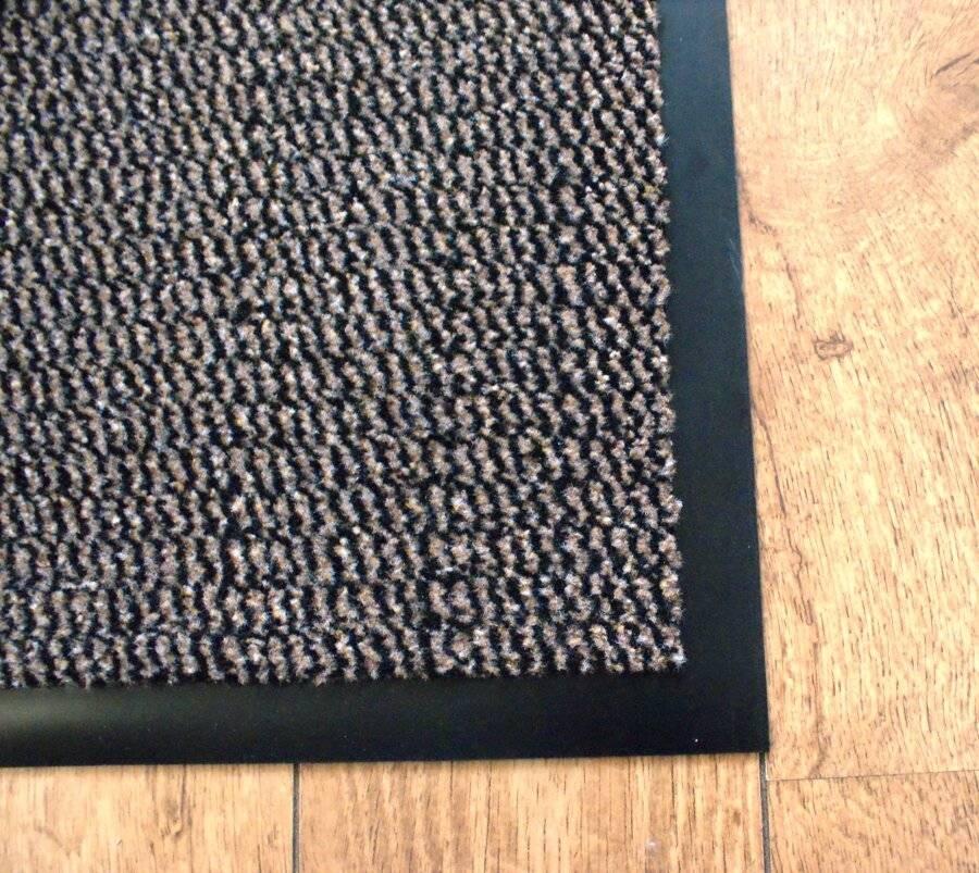 Heavy Duty Non Slip Dirt Barrier Doormat, 120 x 180 cm - Brown/Black