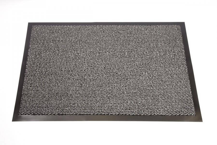 Heavy Duty Non Slip Dirt Barrier Doormat, 120 x 180 cm - Grey/Black