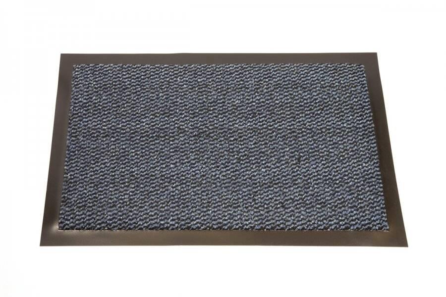 Heavy Duty Non Slip Dirt Barrier Doormat, 40 x 60 cm - Blue/Black