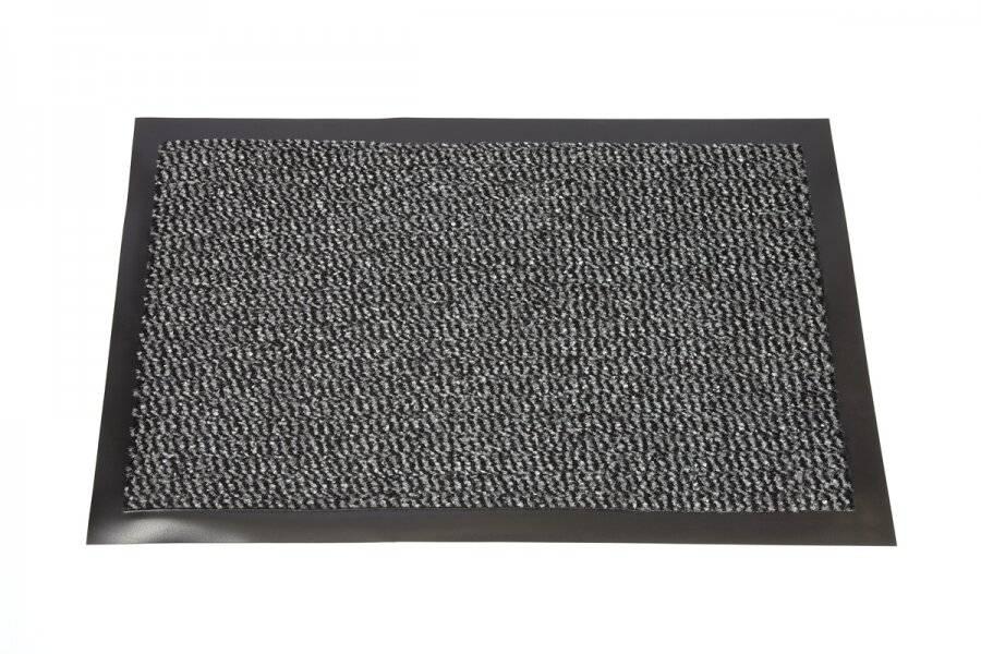 Heavy Duty Non Slip Dirt Barrier Doormat, 40 x 60 cm - Grey/Black