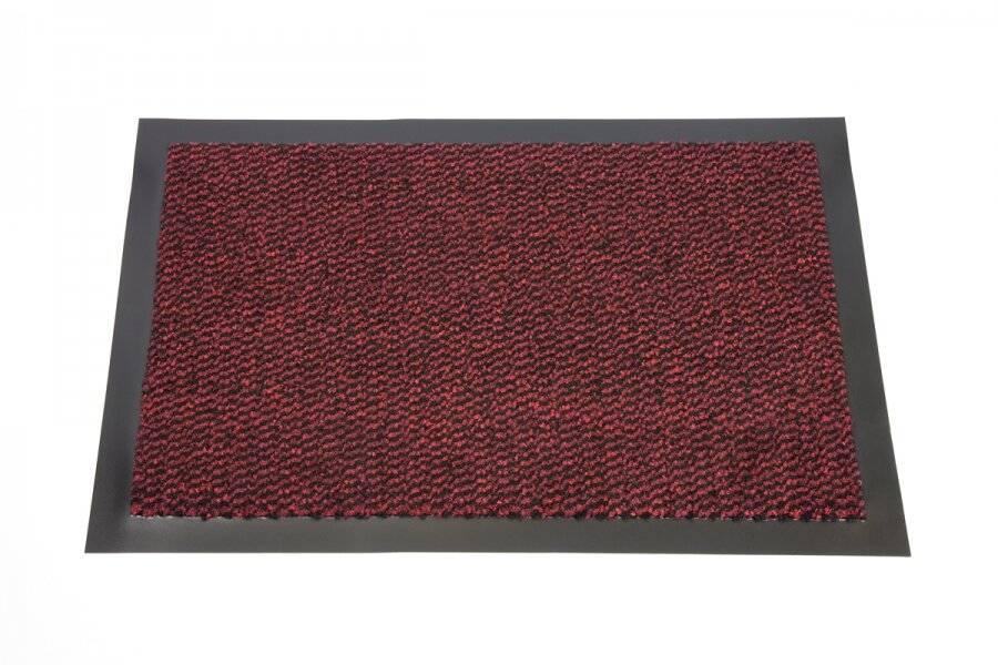 Heavy Duty Non-Slip Entrance Dirt Barrier Door Mat,40 x 60cm -Red/Black