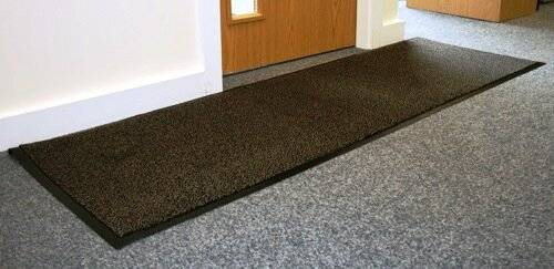 Heavy Duty Non-Slip Entrance Dirt Barrier Door Mat,60 x 180cm -Blue/Black