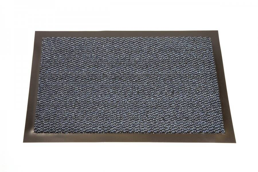 Heavy Duty Non Slip Dirt Barrier Doormat, 60 x 90 cm - Blue/Black