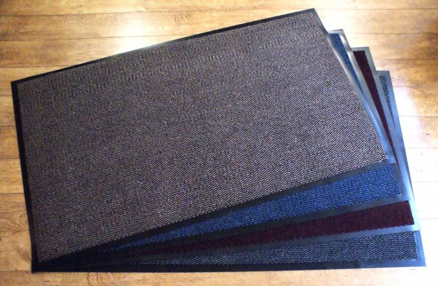 Heavy Duty Non-Slip Entrance Dirt Barrier Door Mat,90 x 150cm -Brown/Black