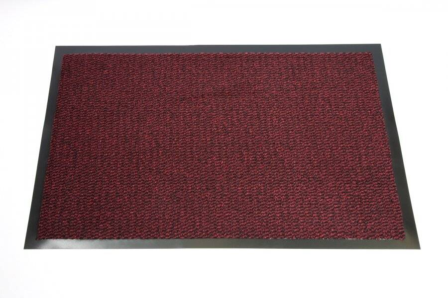 Heavy Duty Non-Slip Entrance Dirt Barrier Door Mat,90 x 150cm -Red/Black