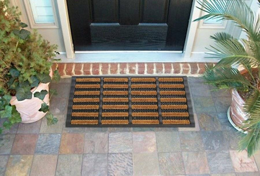 Heavy Duty Tuffscrape Natural Coir and Rubber Door Mat