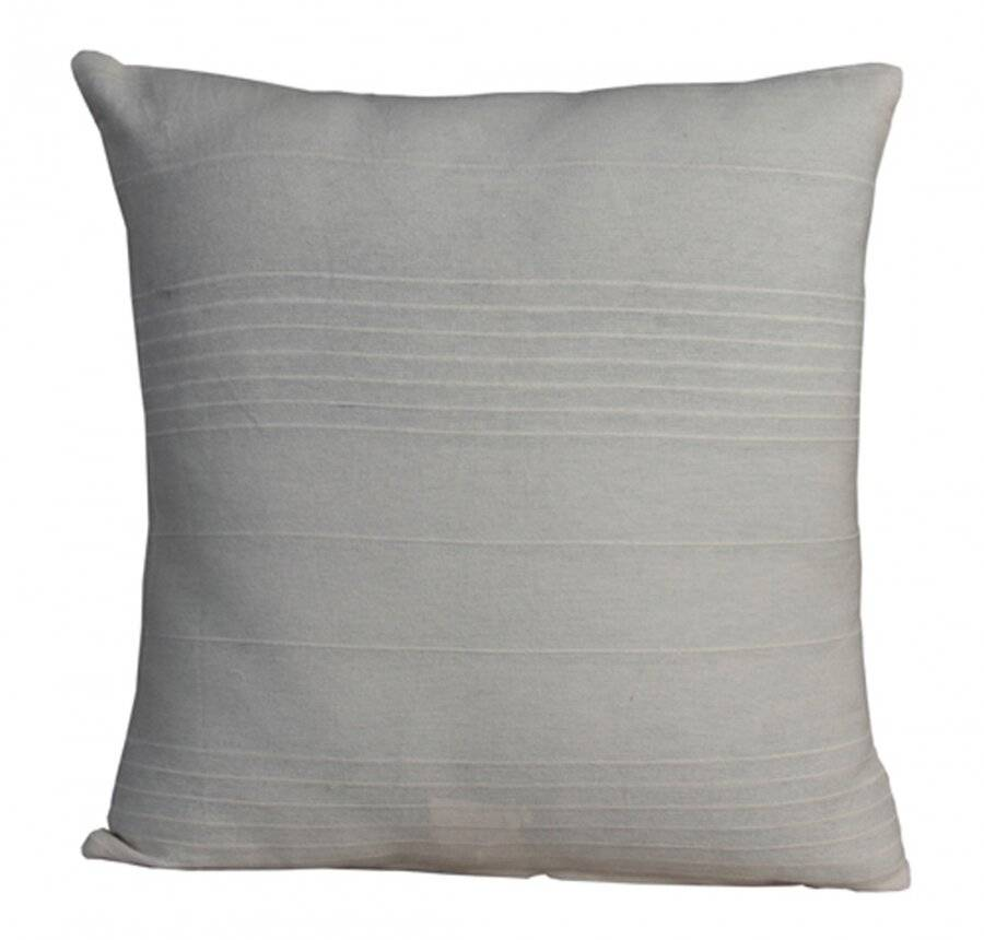 "Indian Classic Rib Cotton Cushion cover 16"" x 16"" Inches - Natural"
