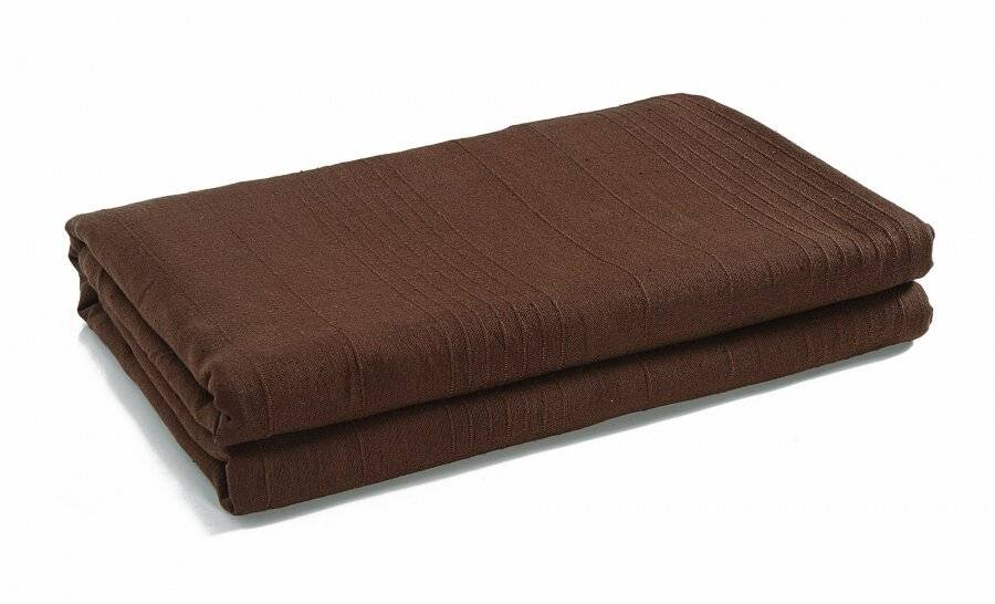 Indian Classic Rib Cotton Throw,For 3-4 Seater Sofa/King Size Bed-Chocolate