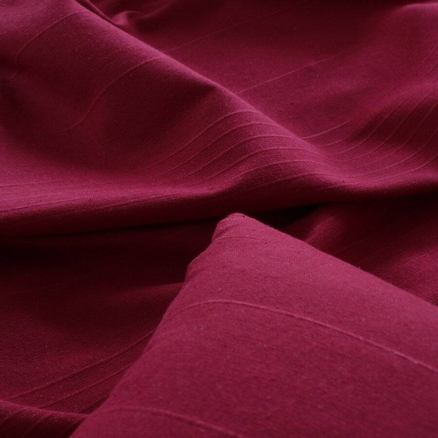 Classic Rib Cotton Throw, For 3-4 Seater Sofa or King Size Bed - Wine