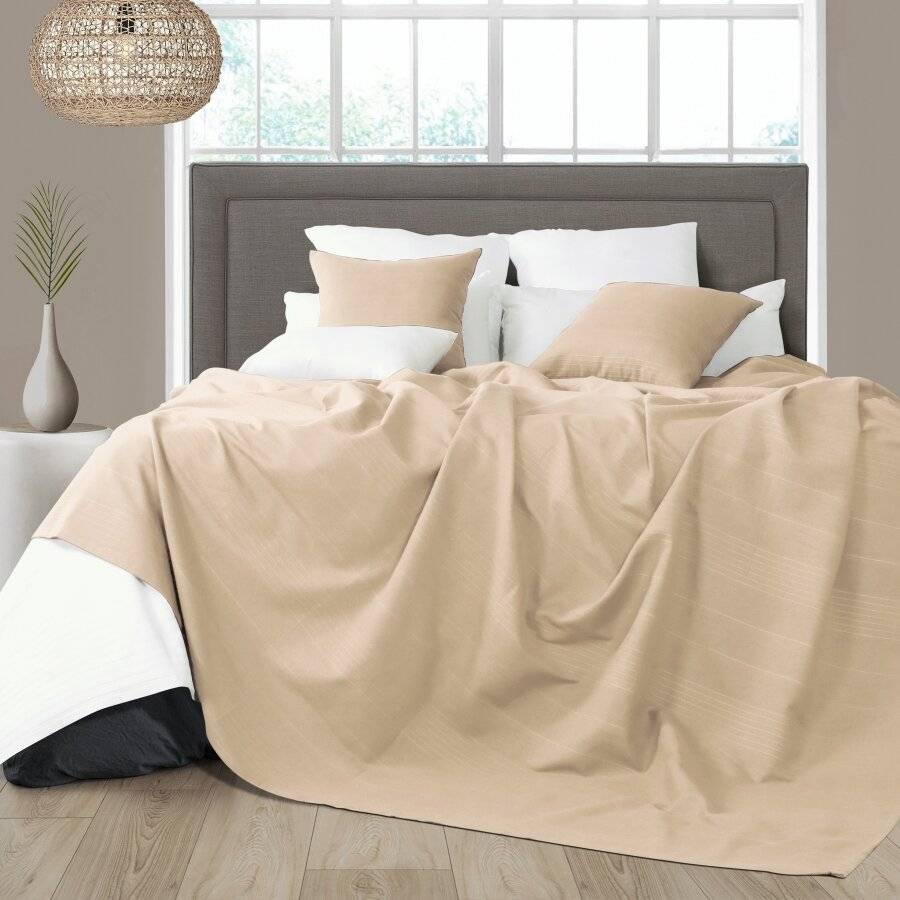 Indian Classic Rib Cotton Throw , For Arm Chair & Single-Natural