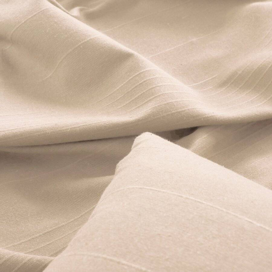 Indian Classic Rib Cotton Throw, For Super King Size Bed - Natural
