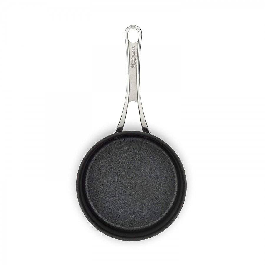 Jamie Oliver Hard Anodized Induction Saucepan With Lid, Black - 18cm