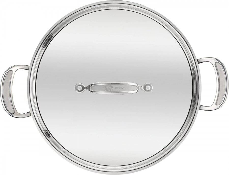 Jamie Oliver Stainless Steel Shallow Induction Pan With Lid - 30 cm