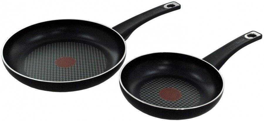 Jamie Oliver Twinpack  Nonstick Frying Pan Set, 20 and 26 cm - Black