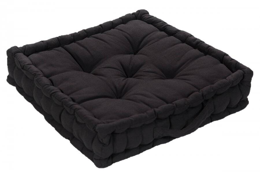 Large Quilted Booster Cushions/ Chair Pad 40 x 40 x 10cm - Black