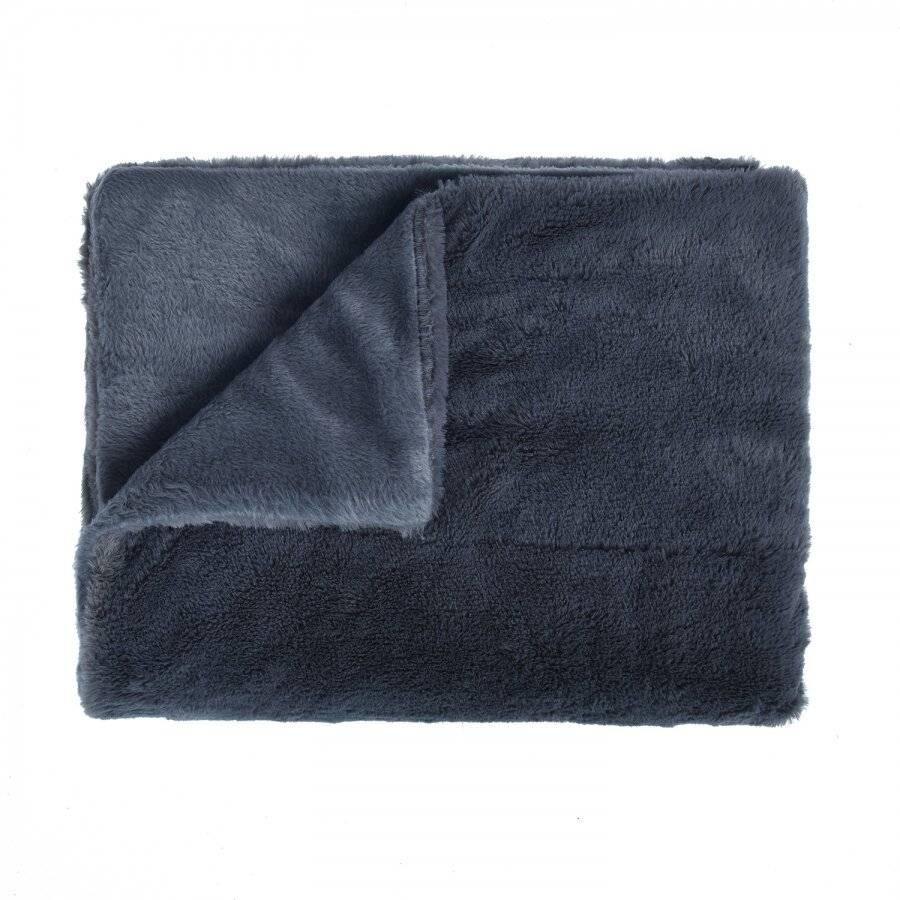 Luxurious Super Soft Snuggle Throw For Sofa, 127 x 152 cm - Grey