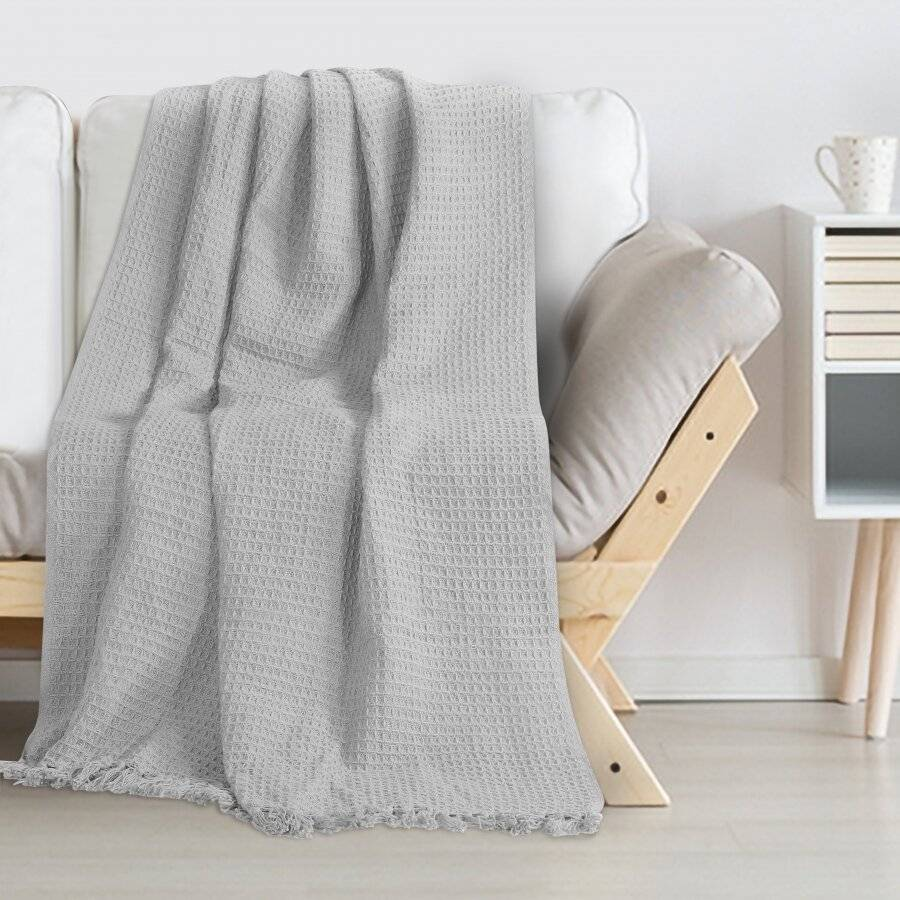 Throws for Sofa Armchair or Single Bed-Grey|Elite Housewares