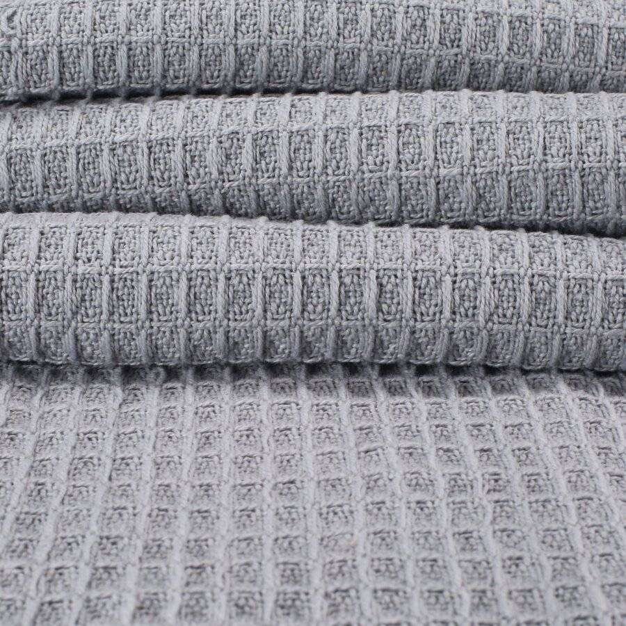 Luxurious Waffle Throws For Sofa Armchair or Single Bed - Natural/Grey