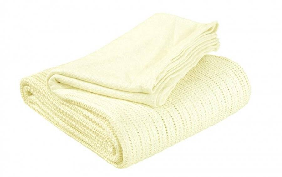Luxury Handwoven Cotton Adult Cellular Blanket,  King - Lemon