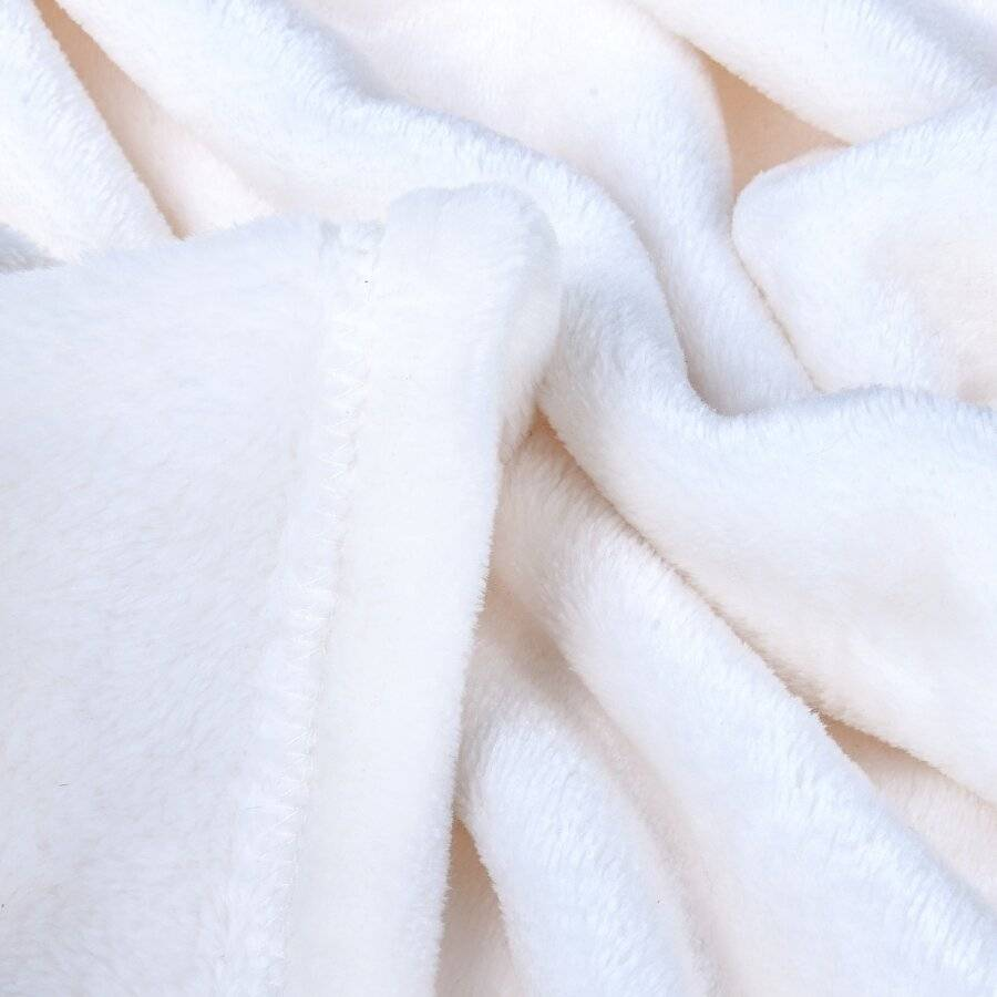 Luxury Super Soft & Fluffy Extra  Large Flannel Blanket- Cream