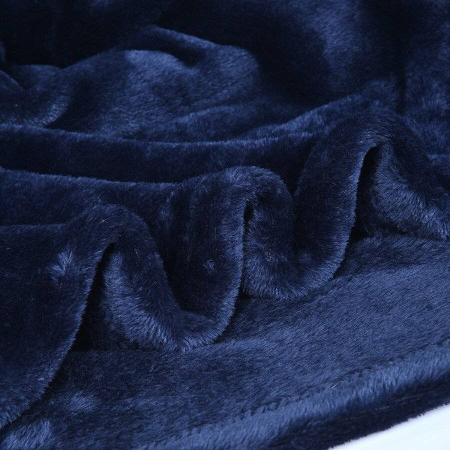 Luxurious Super Soft, Fluffy Extra Large Flannel Blanket - Navy Blue