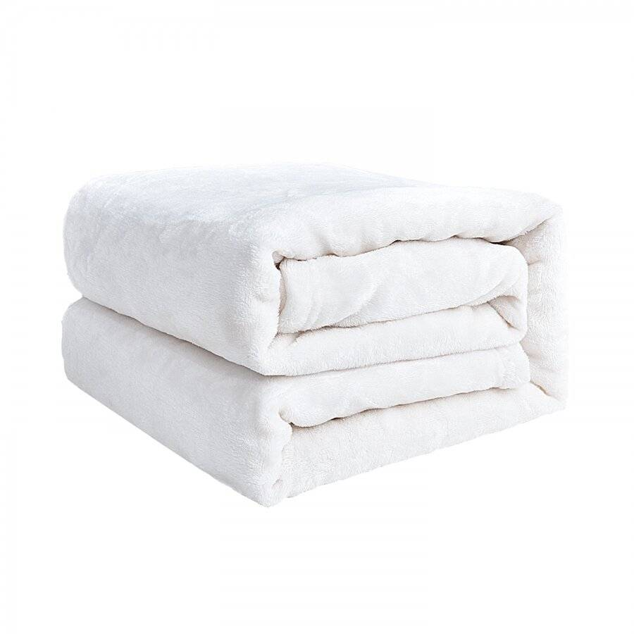 Luxurious Super Soft Flannel Blanket, Cream - Large Size, 150 X 200 cm