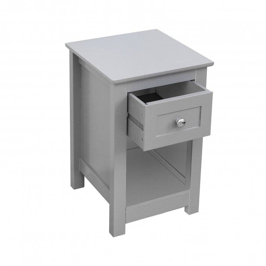 MDF Bedside Table With Drawer and Shelf cabinet Storage