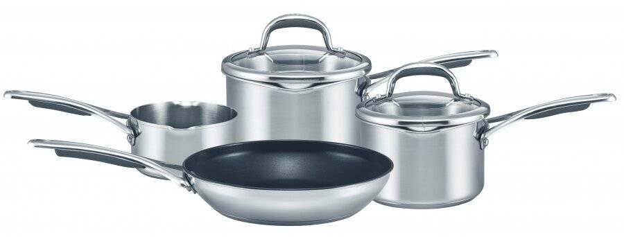 Meyer 4 Piece Classic Stainless Steel Cookware Set - Suitable for all Hobs