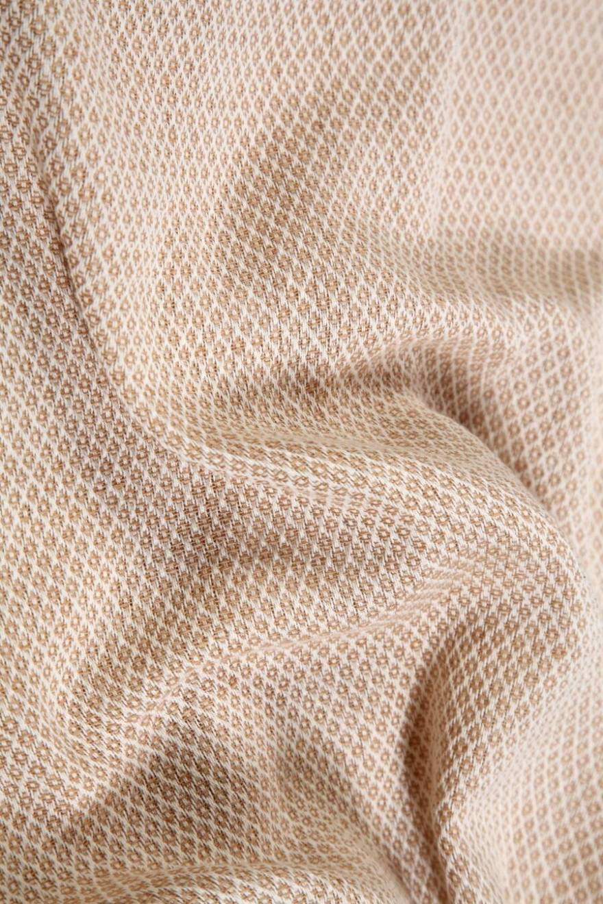 Micro Dots Weave Throw For Armchair & Single Bed, 125 X 150 cm - Beige