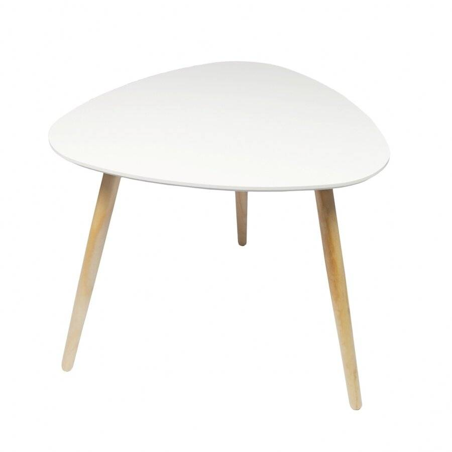 Morden Living Set of 2 MDF Triangle Side Coffee Table