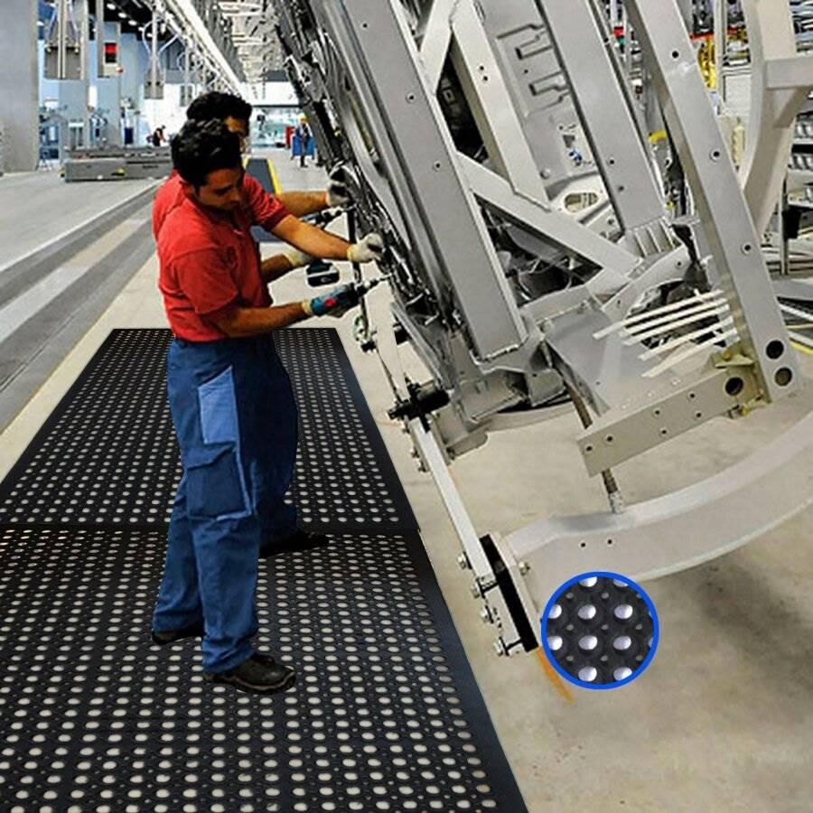 Non Slip Anti-Fatigue Industrial Indoor & Outdoor Rubber Door Mat