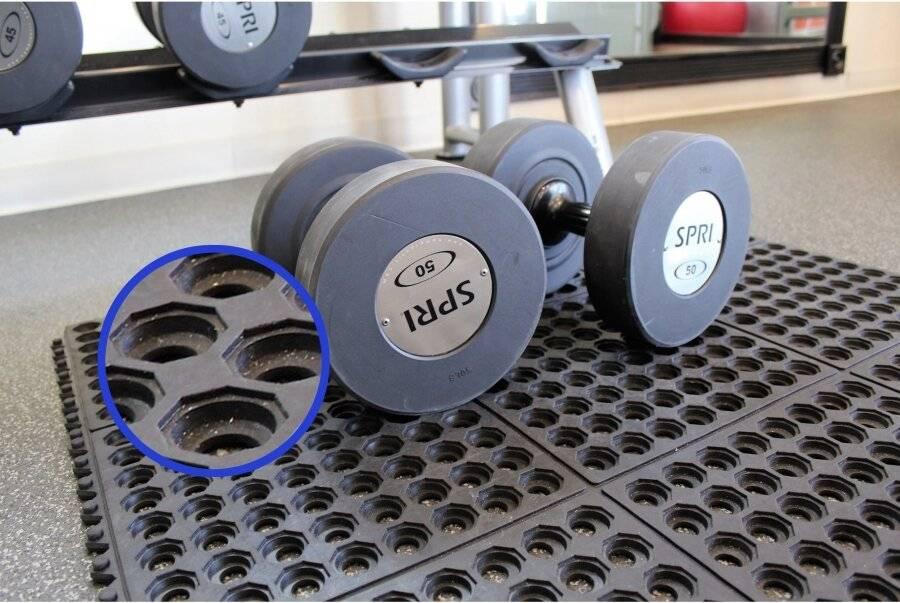 Non-Slip Anti-Fatigue Inter Locking Industrial Indoor & Outdoor Rubber Mat