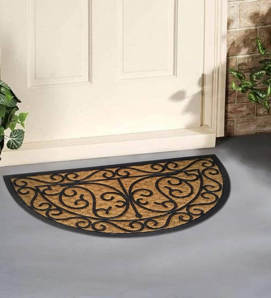 Panama Half Moon Coir & Rubber Indoor & Outdoor Non Slip Doormat