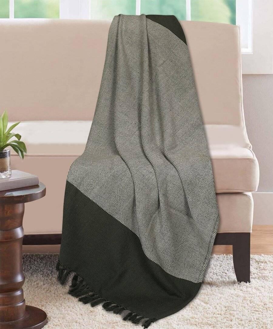 Premium Acyrilic Soft & Light Throw for Sofa Armchair, Single - Smoke