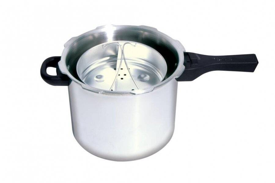 Prestige Quick and Easy Aluminium Pressure Cooker, Silver - 6 L