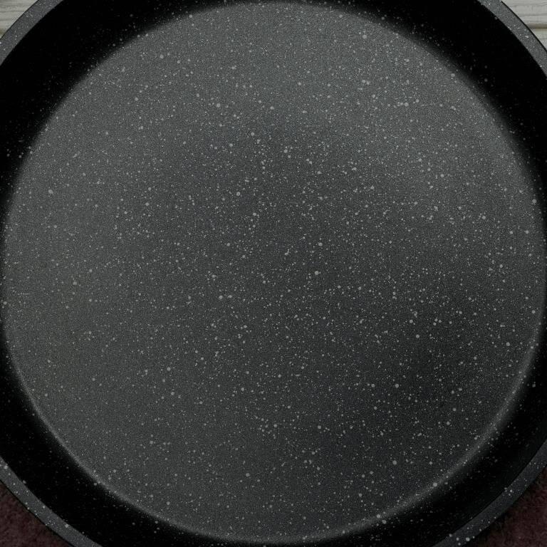 Prestige Stone Quartz 24 cm Induction Casserole With Lid - Black