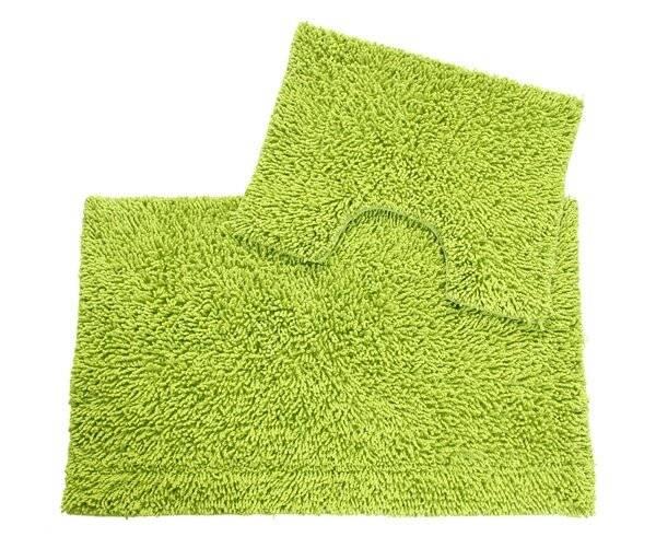 Anti-Slip Pure Cotton, Washable 2 PCs Bath Mat & Pedestal Set - Fern