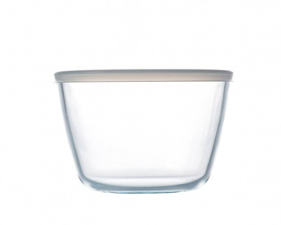 Pyrex Bowl High Resistance Cook & Freeze Glass Bowl With Lid - 1.6L