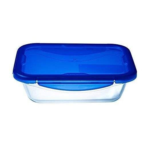 Pyrex Cook & Go Rectangular BPA Free Food Container with Airtight Lid-1.7L