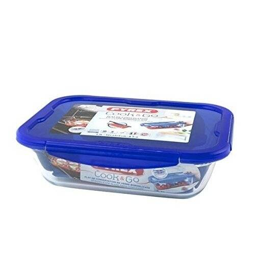 Pyrex Cook & Go Rectangular BPA Free Food Container with Airtight Lid-3.3L